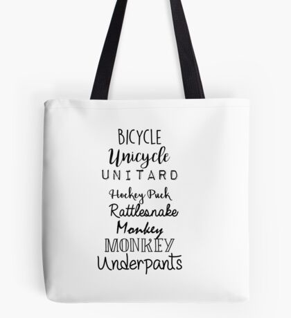 Gilmore Girls - Bicycle Unicycle Tote Bag