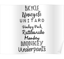 Gilmore Girls - Bicycle Unicycle Poster