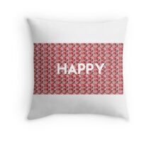 Happy =) Throw Pillow