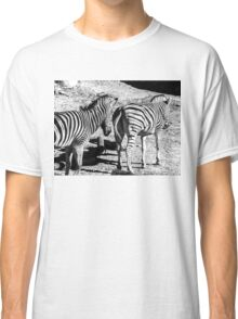 Zebra In A Bad Location Classic T-Shirt