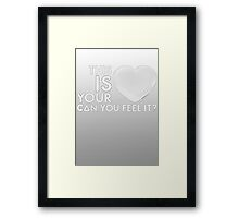 Bastille - Laura Palmer #4 (This Is Your Heart, Can You Feel It?) Framed Print