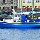 Blue Boat in Stornoway Marina by BlueMoonRose