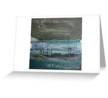 grey landscape Greeting Card
