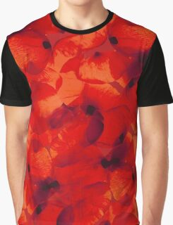 Poppies Petals in Red Graphic T-Shirt