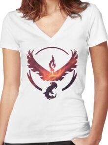 Team Valor Women's Fitted V-Neck T-Shirt