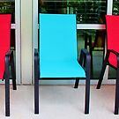 Red And Blue Chairs by Cynthia48