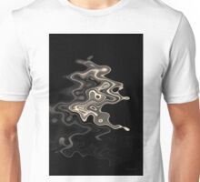 Abstract Swirl Monochrome Toned Unisex T-Shirt