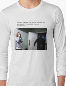 MC Ride Walks into door  Long Sleeve T-Shirt