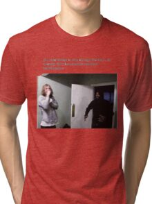 MC Ride Walks into door  Tri-blend T-Shirt