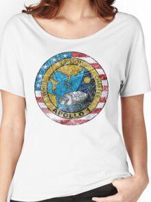 Apollo 1 Vintage Emblem Women's Relaxed Fit T-Shirt