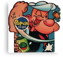 Popeye Record Canvas Print
