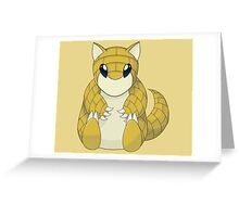 Pokemon Sandshrew Greeting Card