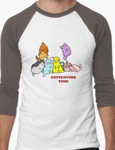 Catventure Time Men's Baseball ¾ T-Shirt