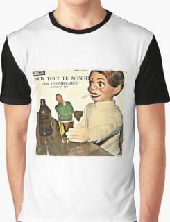 Vintage Record Smoking Puppet Graphic T-Shirt