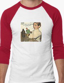 Vintage Record Smoking Puppet Men's Baseball ¾ T-Shirt