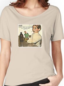 Vintage Record Smoking Puppet Women's Relaxed Fit T-Shirt