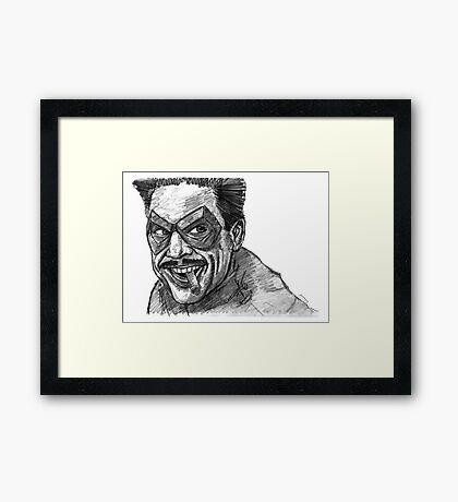 The Comedian Framed Print