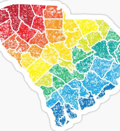 south carolina color counties Sticker