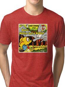 Vintage Record Cartoon Tri-blend T-Shirt