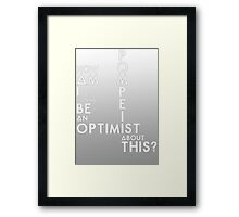 Bastille - Pompeii #3 (How Am I Gonna Be An Optimist About This?) Framed Print