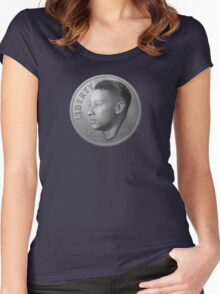 Dimes Look Different in Philly - Ben Simmons (Dime Only Variant) Women's Fitted Scoop T-Shirt