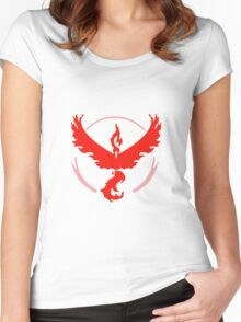 Pokemon GO Red Team Valor Women's Fitted Scoop T-Shirt