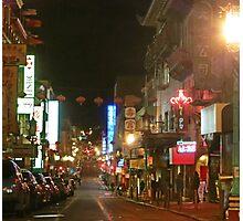 Grant Street at Night Photographic Print