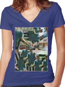 Salad days are over  Women's Fitted V-Neck T-Shirt