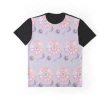 Ava- pink and lilac abstract floral and spots  Graphic T-Shirt