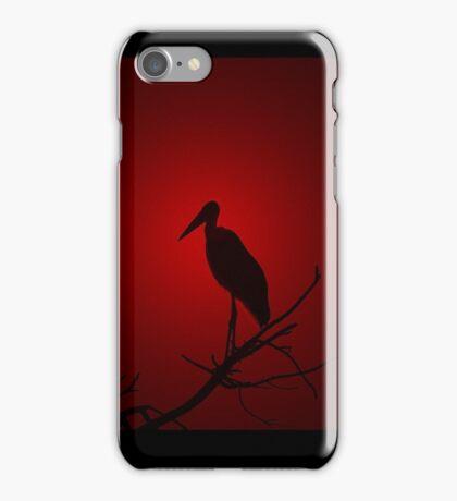 Marabou Stork - Sunset Red - African Wild Birds iPhone Case/Skin