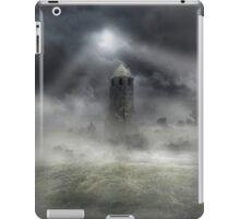 Foggy landscape with dark tower iPad Case/Skin