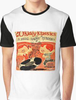 Vintage Cartoon Record Graphic T-Shirt
