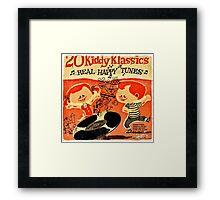 Vintage Cartoon Record Framed Print