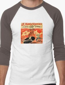Vintage Cartoon Record Men's Baseball ¾ T-Shirt