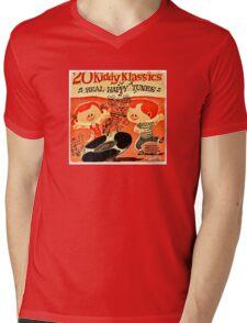 Vintage Cartoon Record Mens V-Neck T-Shirt