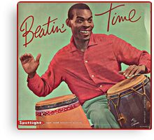 Beating Time Vintage Record Canvas Print