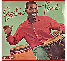 Beating Time Vintage Record Photographic Print