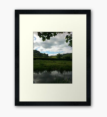 Water Earth Sky - Walk Along The Canal 2 Framed Print