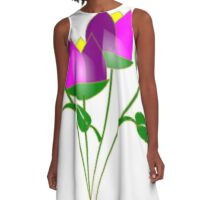 Pink Tulips A-Line Dress