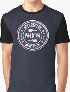 Wonderful 80'S Brit rock Graphic T-Shirt