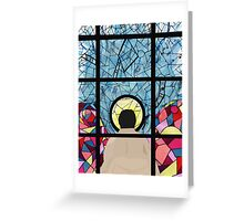 Stained Glass Castiel Greeting Card