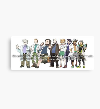 Pokemon Professors Canvas Print