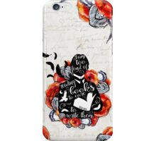 PICTURE OF DORIAN GREY - TOO FOND OF READING iPhone Case/Skin