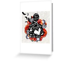 PICTURE OF DORIAN GREY - TOO FOND OF READING Greeting Card