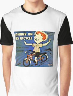 Vintage Record Johnny Bike Graphic T-Shirt