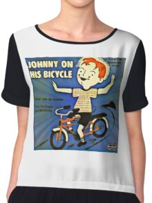 Vintage Record Johnny Bike Chiffon Top