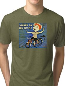 Vintage Record Johnny Bike Tri-blend T-Shirt