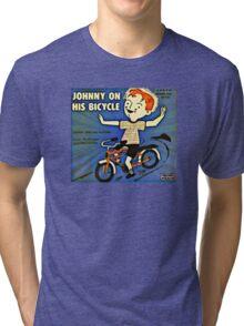 Vintage Record Johnny Bike Tri-blend T-Shirt