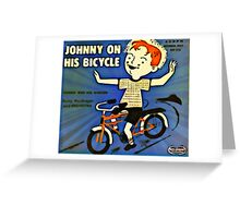 Vintage Record Johnny Bike Greeting Card