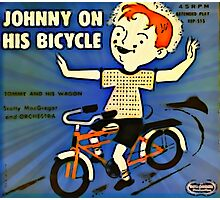 Vintage Record Johnny Bike Photographic Print